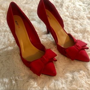 Candy Apple red high heel pumps, size 11